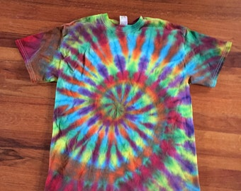 "Rainbow ""Feathered"" Tie Dye T-shirt"