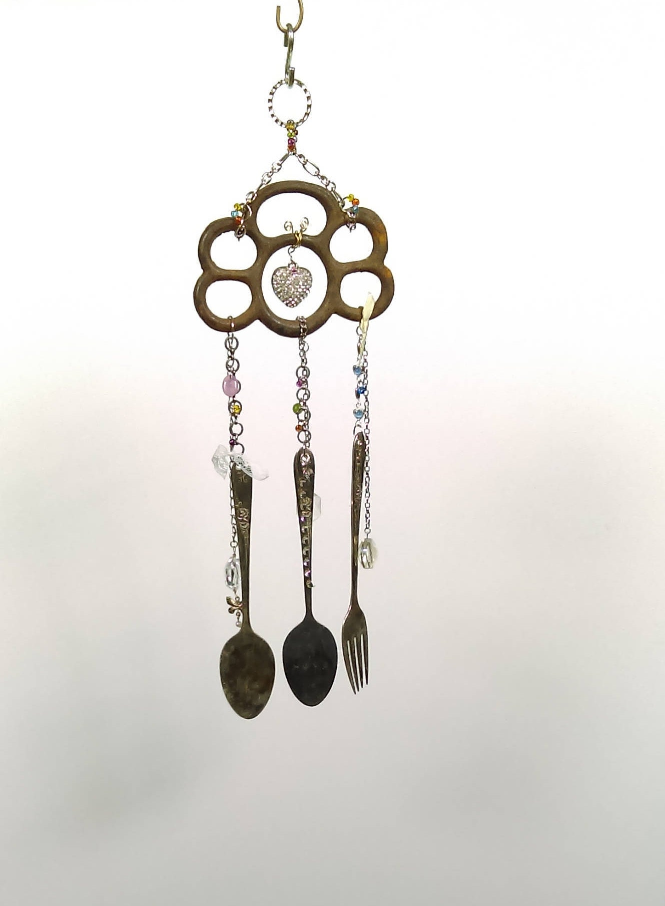 wind chime unique wind chimes metal wind chimes recycled. Black Bedroom Furniture Sets. Home Design Ideas