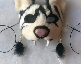 Spirit/Totem Animal Mask (White Tiger)