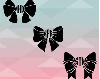 Vinyl bow monogram