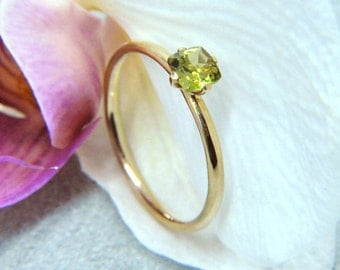 Ring Peridot 585/- Gold