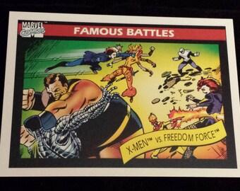 X-Men vs. Freedom Force #118 - 1990 Marvel Universe Series 1 Base Trading Card