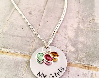 Mothers Necklace, Personalized mom Necklace, My Girls necklace, my boys necklace, Family necklace, Mom of Boys, Mom of Girls, push present