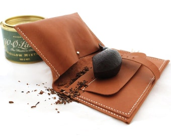 Handmade leather pipe pouch Pipe Roll Tobacco Pipe Pouch Pipe Case Handcrafted pipe bag