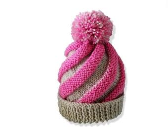 Knitting Pattern Swirl Hat : Knit swirl hat Etsy