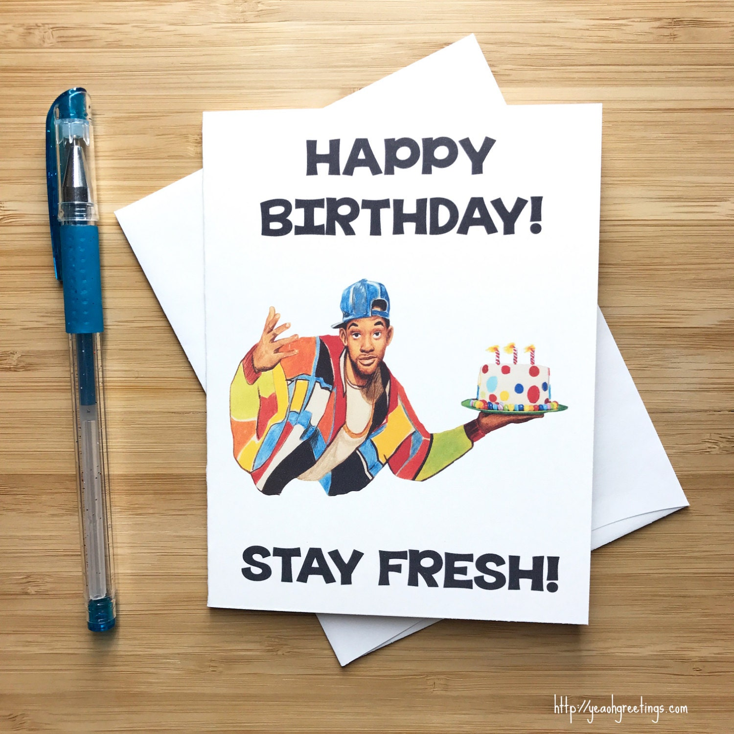 Funny Birthday Card Fresh Prince Of Bel Air Will Smith