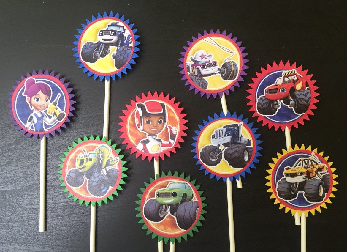 Blaze and the Monster Machine Cupcake Toppers 9 Blaze