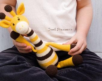 Giraffe toy Safari baby toys Crochet giraffe Stuffed toy Soft toy Handmade toy Interior toy Eco friendly animal Baby gift Crochet toys