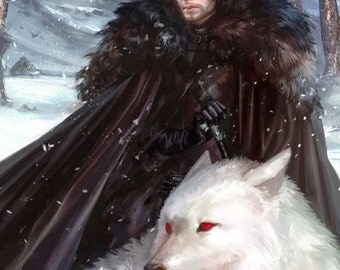 BUY 2, GET 1 FREE! Game of Thrones John Snow 053 Cross Stitch Pattern Counted Cross Stitch Chart, Pdf Format, Instant Download /198264