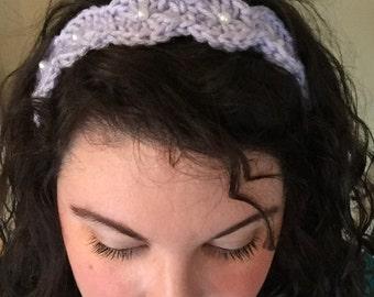 Crochet Pearl Shell Headband