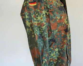 Vintage German Camouflage Military Field Jacket / Army / Navy / Small to medium / Germany / Deutsche / Deutschland / B