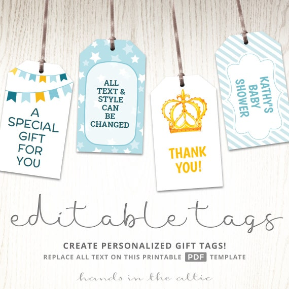 Printable baby shower gift tags editable party favor labels printable baby shower gift tags editable party favor labels thank you hang tags baptism favor tags gift tags template digital from handsintheattic on negle Gallery