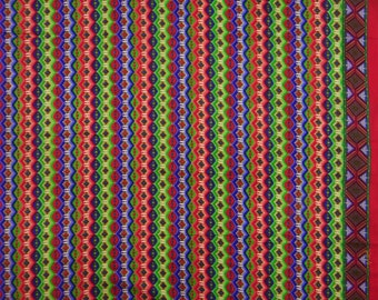 "Designer Fabric, Multicolor Printed, Dress Fabric, Quilt Material, Home Decor Fabric, 43"" Inch Cotton Fabric By The Yard ZBC7229C"