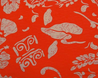 "Dress Fabric, Floral Print, Decorative Fabric, Sewing Accessories, Salmon Fabric, 60"" Inch Rayon Fabric By The Yard ZBR243A"
