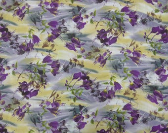 "Indian Decor Fabric, Floral Print, Rayon Fabric, Home Accessories, Craft Fabric, Sewing Material, 42"" Inch Fabric By The Yard ZBR420A"