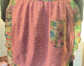 Apron - Skirt - Pink Butterflies