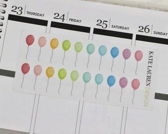 Balloon Planner Stickers, Balloon Stickers, Birthday Stickers, Birthday Planner Stickers, Party Stickers, Party Planner Stickers