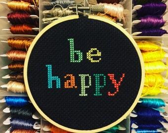 Be Happy - Cross Stitch