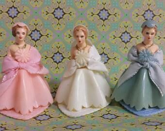 Bridesmaids Cake Toppers, Wedding Decor, Kitsch, Mid Century Wedding Decor, c1950's