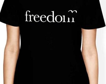 Freedom shirt Tumblr Top Funny Freedom Fabric T-Shirt Womens Graphic Tee Ladies Tshirt Best Friend Gift Women Clothing Mom shirt