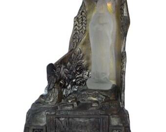 French Vintage Art Deco Lourdes Statue - Bernadette Soubirous - Lourdes Shrine Statue - Virgin Mary Statue - Our Lady of Lourdes Statue