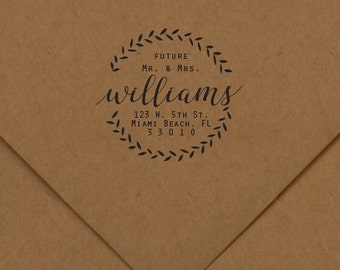 The Future Mr & Mrs. Address Stamp, Wedding Stamp, Rubber Stamp, Personalized Rubber Stamp