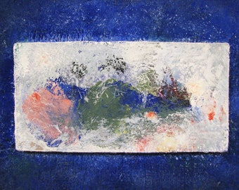 Original art, abstract painting, blue painting, Original painting, modern painting, acrylic painting, mix media