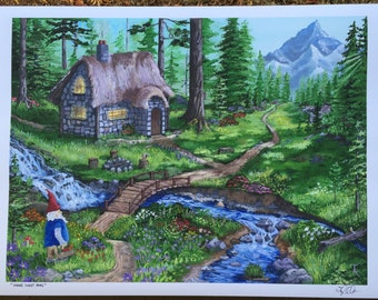 Gnome Sweet Home Fine Art Print