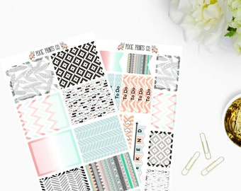 Tribal Planner Sticker Kit, Planner Stickers, for use with Erin Condren, Life Planner, Mambi, Happy Planner, Create 365