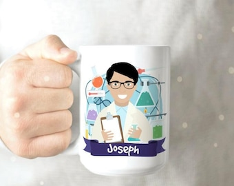Science Coffee Mug - Scientist Coffee Mug - Science Mug - Chemistry Coffee Mug - Chemistry Mug - Personalized Coffee Mug - Custom Mug