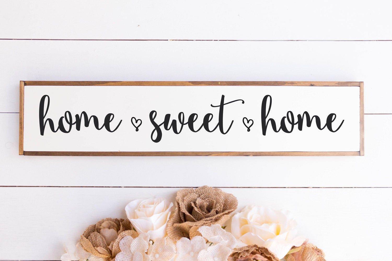 Home Sweet Home Sign Home Sweet Home Home Sweet Home Wood