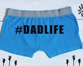 Dadlife boxers, dad boxer briefs, dads underwear, gift for him, daddy boxers, gift for dad, boyfriend gift, husband boxers, Fathers day gift