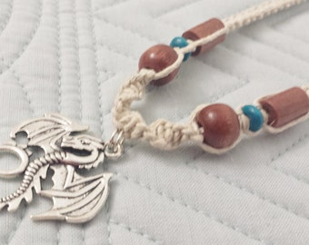 Dragon Pendant Hemp Necklace