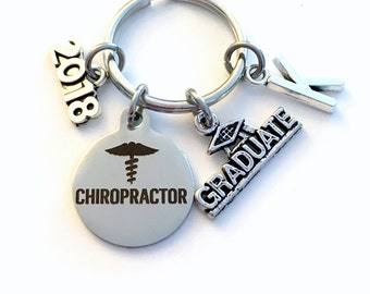Graduation Gift for Chiropractor Keychain, 2017 2018 DC Key Chain Spine Care Dr Doctor Student Grad KeyChain  Chiropractic Keyring Graduate