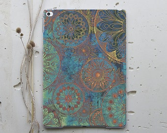 iPad Case iPad Air 2 Case iPad Mini 3 Cover iPad 4 Case iPad Smart Case iPad Pro Case iPad 3 Case Apple iPad Cover Black Mandala Lace i045