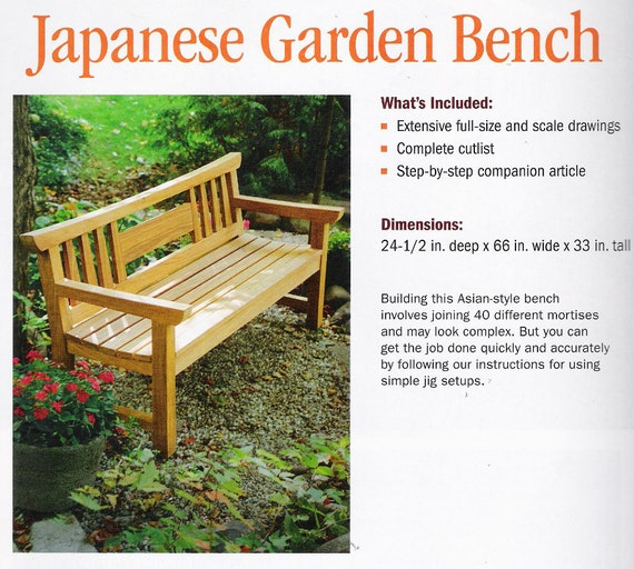 Plans To Build Teak Japanese Garden Bench By Fine