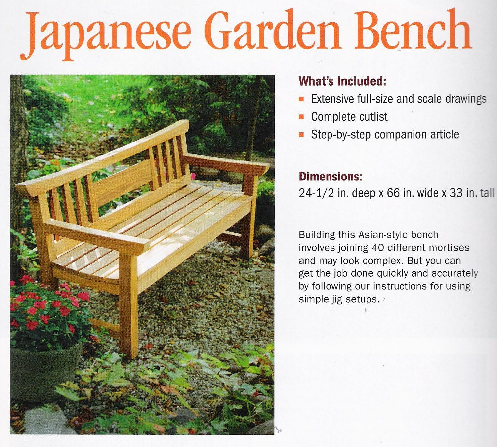 Plans To Build Teak Japanese Garden Bench By Fine
