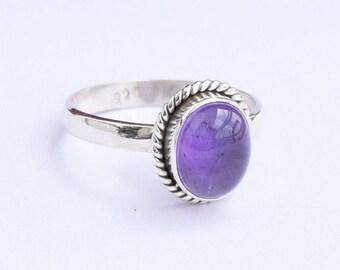 Amethyst Ring, Amethyst Silver Ring, Silver Amethyst Ring, Solid Sterling Silver Ring, Sterling Silver Ring,size 3 4 5 6 7 8 9 10 11 12 13