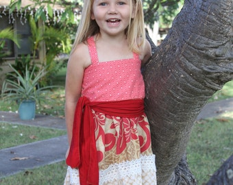 Disney Inspired Moana Dress- Moana Costume- Disney's Moana- Moana Birthday Outfit- Moana Dress- Hawaiian Dress- Hawaiian Costume