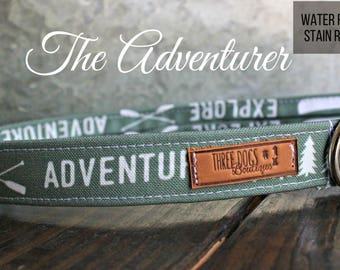 "Canvas Deluxe Dog Collar ""The Adventurer"" Stain resistant