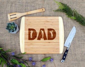 Dad Golf Cutting Board, Cheese Board, Bamboo, Laser Engraved, Gift for Golfer, Father's Day, Gift for Dad, Dad Birthday, Golfer, Christmas