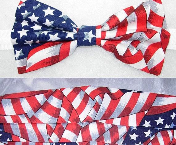 Mens Cummerbund SetAmerican Flag ... - etsy.com