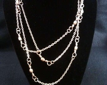 Large Barrel Swivel Chain Necklace