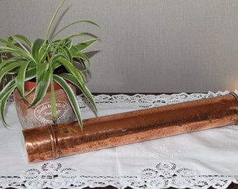 Vintage Copper Sterlising Cannister/Copper Map Tin/Copper Paint Brush Holder/(Ref1956C)