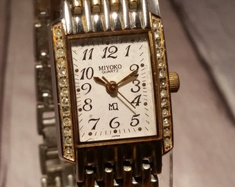 Chic Watch, Chic Women's Watch, Chic, Vintage Miyoko Watch, Retro Womens Watch, Gold Vintage Watch, Silver Vintage Watch, Square Face Watch