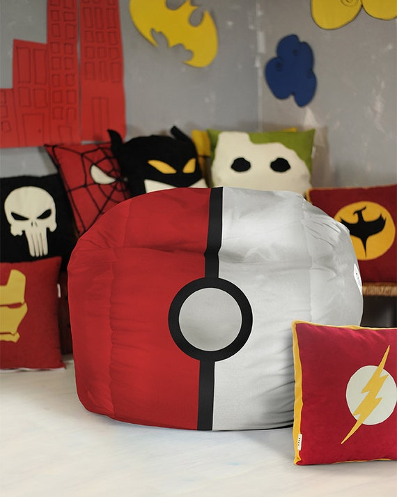 Pokemon Bean Bag Chair Cover Pouf Kids Teen And Adult By