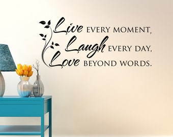 Live Laugh Love Wall Decal Quote  Inspirational Vinyl Wall Decal Quote   Bedroom Wall Decal Part 94