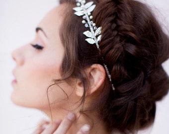Headband wedding - Victoire - Bridal headpieces - bridal headband - Leaf headband - Swarovski Element - bridal hair headband-French