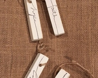 Wooden Tags - set of 4