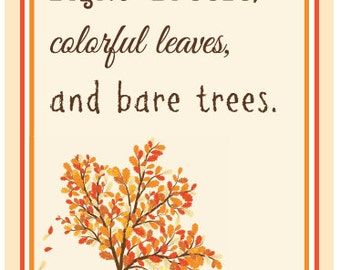 Fall - Autumn - Quote - Typography - Graphic - Wall Art - Instant Download - Printable